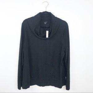 NWT talbots black merino wool turtleneck sweater